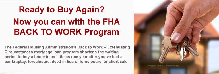 FHA BAck to Work Program in MN, WI, and SD